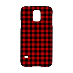 Lumberjack Plaid Fabric Pattern Red Black Samsung Galaxy S5 Hardshell Case