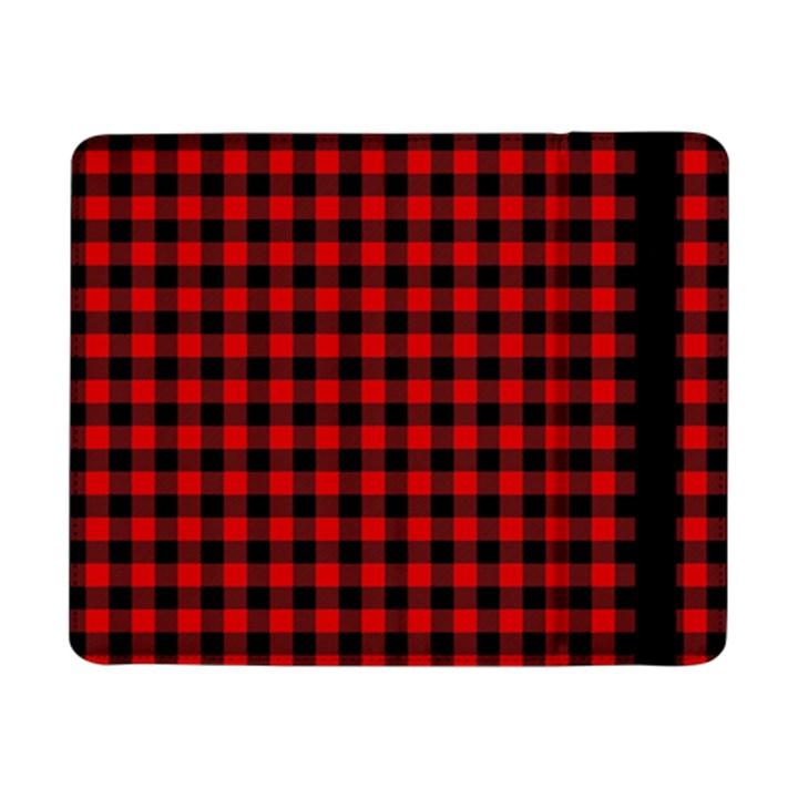 Lumberjack Plaid Fabric Pattern Red Black Samsung Galaxy Tab Pro 8.4  Flip Case