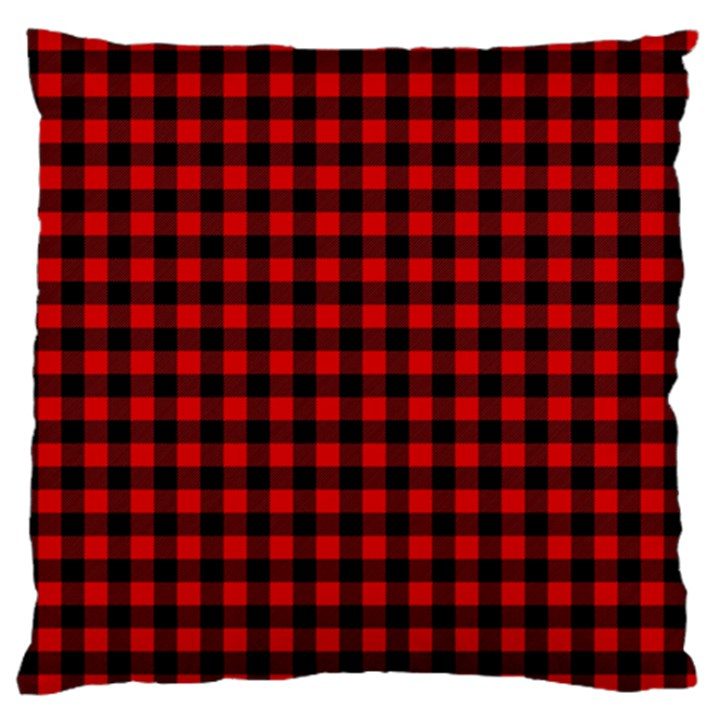 Lumberjack Plaid Fabric Pattern Red Black Standard Flano Cushion Case (Two Sides)