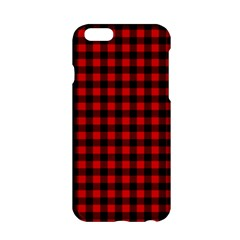Lumberjack Plaid Fabric Pattern Red Black Apple Iphone 6/6s Hardshell Case by EDDArt