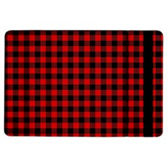 Lumberjack Plaid Fabric Pattern Red Black Ipad Air 2 Flip by EDDArt