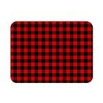 Lumberjack Plaid Fabric Pattern Red Black Double Sided Flano Blanket (Mini)