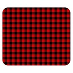 Lumberjack Plaid Fabric Pattern Red Black Double Sided Flano Blanket (Small)  50 x40 Blanket Front