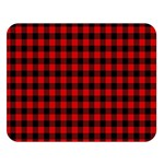 Lumberjack Plaid Fabric Pattern Red Black Double Sided Flano Blanket (Large)  80 x60 Blanket Front