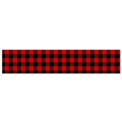 Lumberjack Plaid Fabric Pattern Red Black Flano Scarf (small) by EDDArt