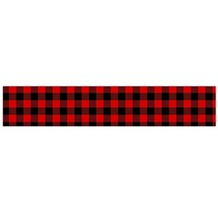Lumberjack Plaid Fabric Pattern Red Black Flano Scarf (large)