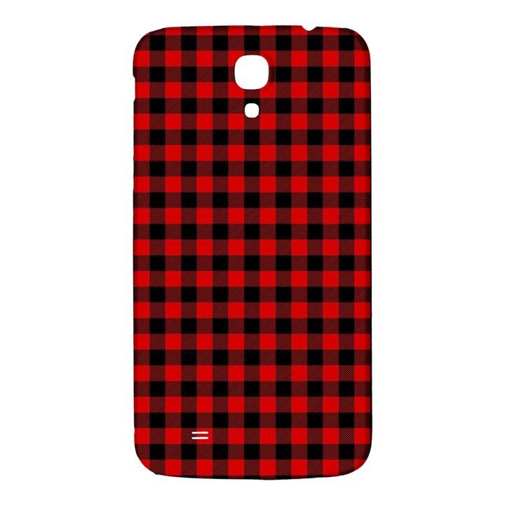Lumberjack Plaid Fabric Pattern Red Black Samsung Galaxy Mega I9200 Hardshell Back Case