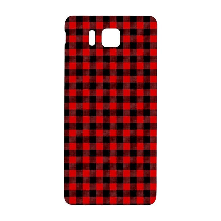 Lumberjack Plaid Fabric Pattern Red Black Samsung Galaxy Alpha Hardshell Back Case