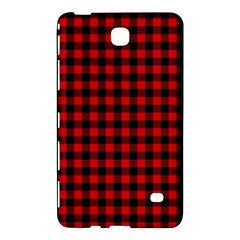 Lumberjack Plaid Fabric Pattern Red Black Samsung Galaxy Tab 4 (8 ) Hardshell Case