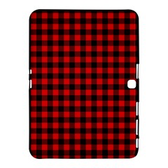 Lumberjack Plaid Fabric Pattern Red Black Samsung Galaxy Tab 4 (10 1 ) Hardshell Case