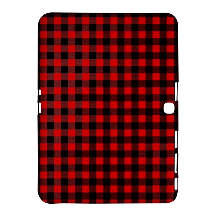 Lumberjack Plaid Fabric Pattern Red Black Samsung Galaxy Tab 4 (10.1 ) Hardshell Case