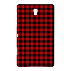 Lumberjack Plaid Fabric Pattern Red Black Samsung Galaxy Tab S (8 4 ) Hardshell Case  by EDDArt