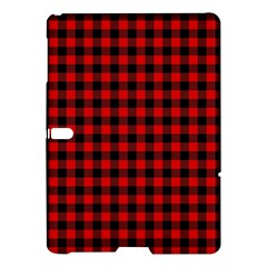 Lumberjack Plaid Fabric Pattern Red Black Samsung Galaxy Tab S (10 5 ) Hardshell Case