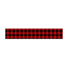 Lumberjack Plaid Fabric Pattern Red Black Flano Scarf (mini)
