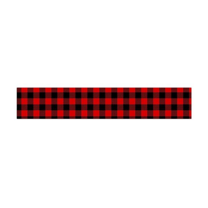Lumberjack Plaid Fabric Pattern Red Black Flano Scarf (Mini)