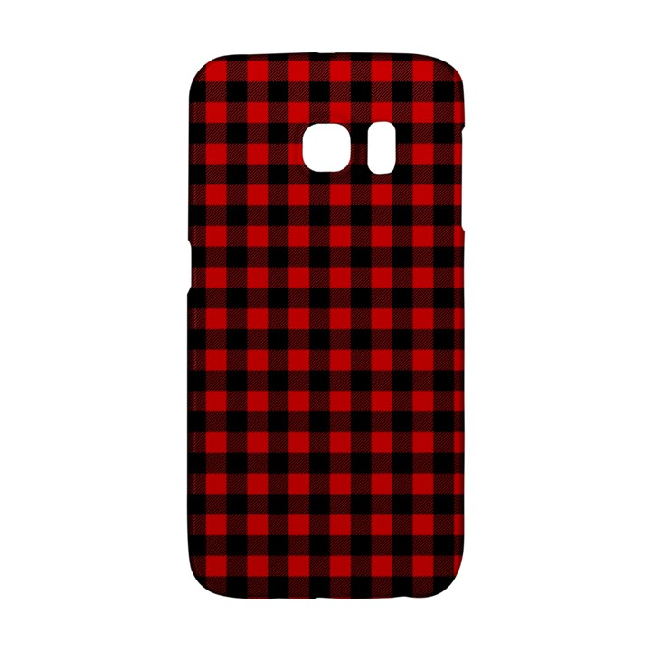 Lumberjack Plaid Fabric Pattern Red Black Galaxy S6 Edge