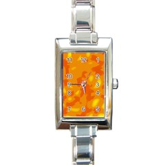 Orange Decor Rectangle Italian Charm Watch by Valentinaart