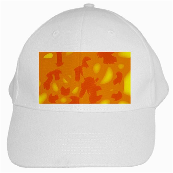 Orange decor White Cap