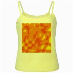 Orange decor Yellow Spaghetti Tank