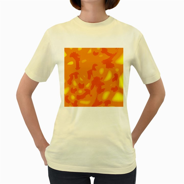 Orange decor Women s Yellow T-Shirt