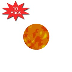 Orange Decor 1  Mini Buttons (10 Pack)  by Valentinaart