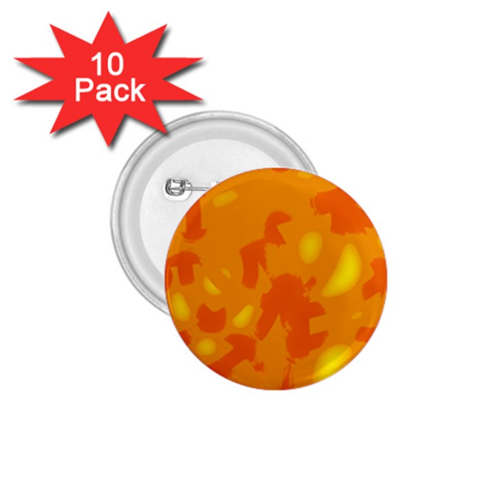 Orange decor 1.75  Buttons (10 pack)
