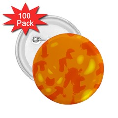 Orange Decor 2 25  Buttons (100 Pack)