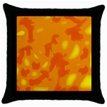 Orange decor Throw Pillow Case (Black) Front