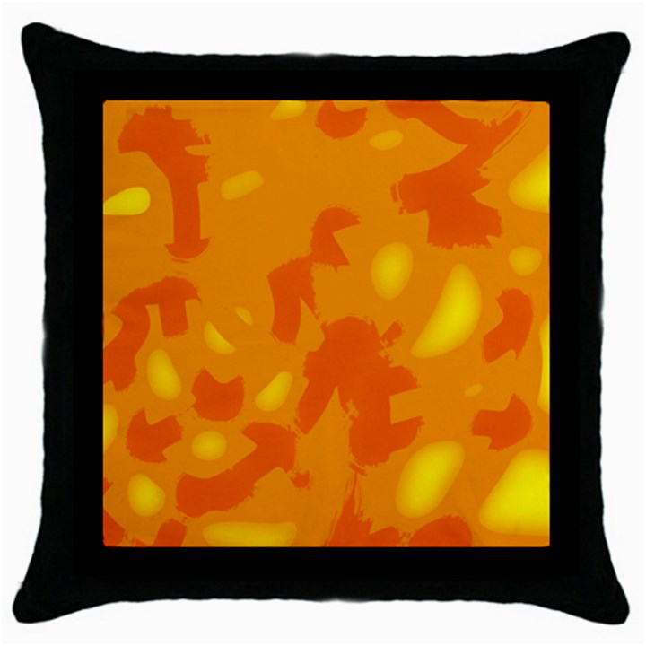 Orange decor Throw Pillow Case (Black)