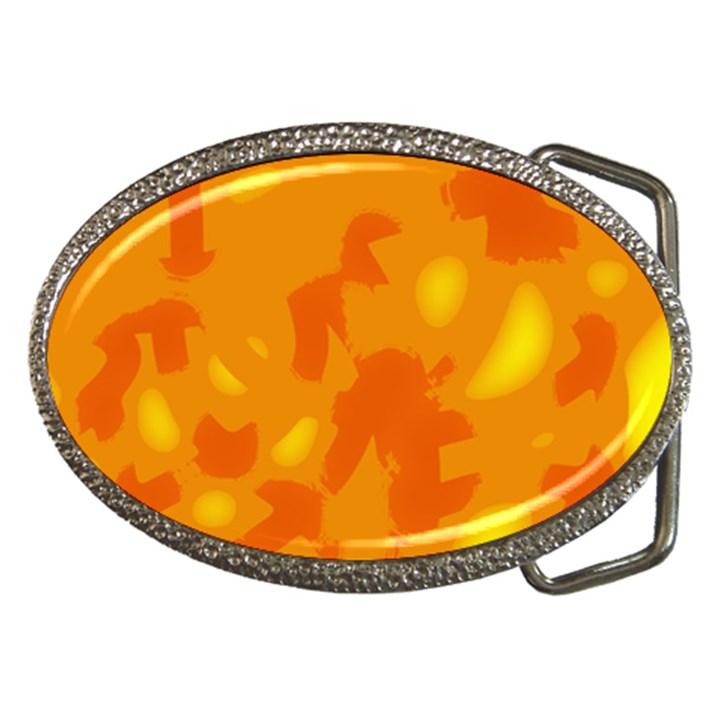 Orange decor Belt Buckles