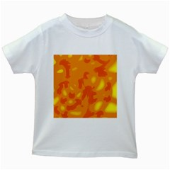 Orange Decor Kids White T Shirts by Valentinaart