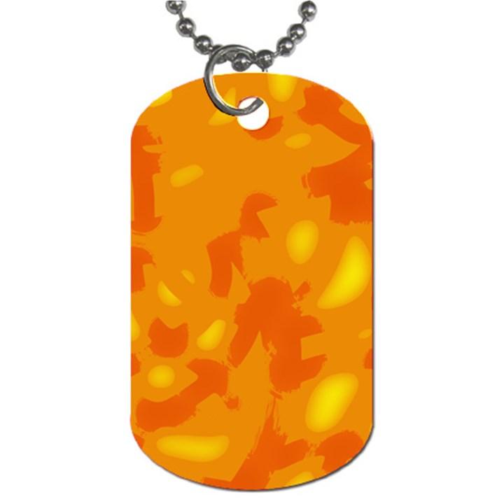 Orange decor Dog Tag (One Side)