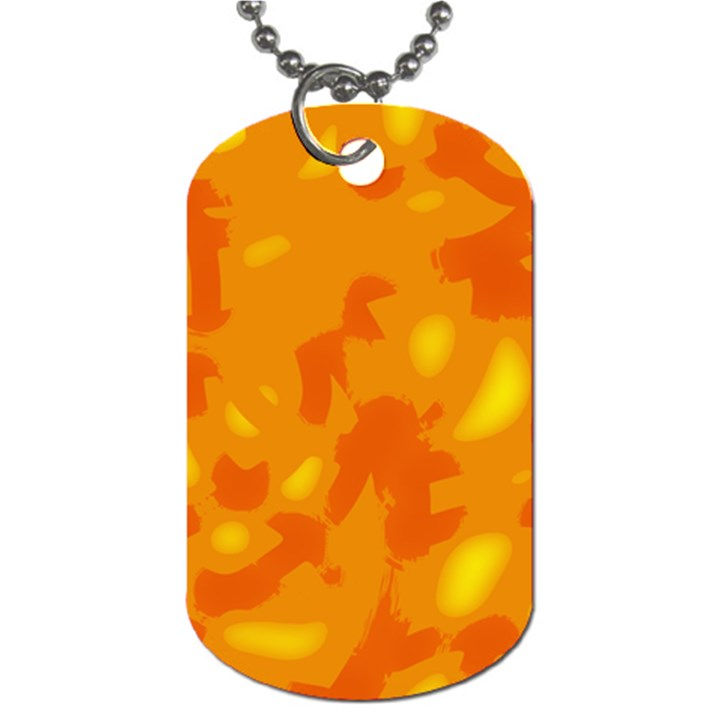 Orange decor Dog Tag (Two Sides)