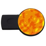 Orange decor USB Flash Drive Round (2 GB)  Front
