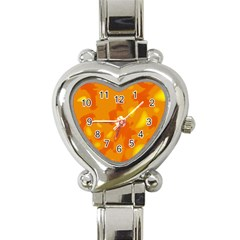 Orange Decor Heart Italian Charm Watch by Valentinaart