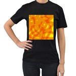 Orange decor Women s T-Shirt (Black) (Two Sided) Front