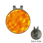 Orange decor Hat Clips with Golf Markers Front