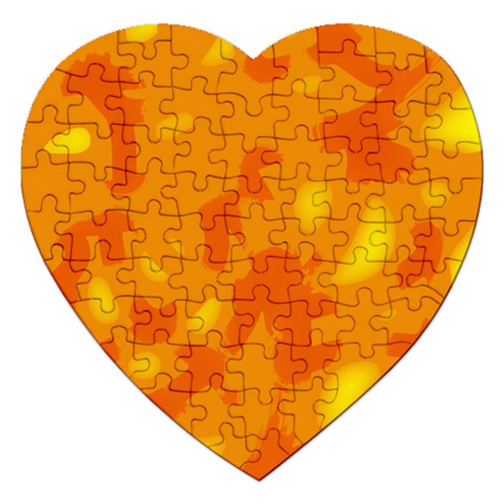 Orange decor Jigsaw Puzzle (Heart)