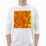Orange decor White Long Sleeve T-Shirts Front