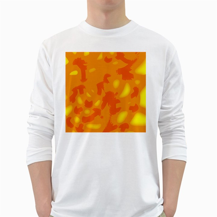 Orange decor White Long Sleeve T-Shirts
