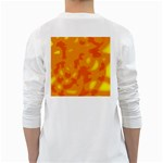 Orange decor White Long Sleeve T-Shirts Back