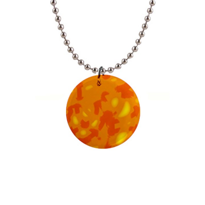 Orange decor Button Necklaces