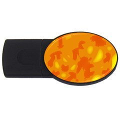 Orange Decor Usb Flash Drive Oval (4 Gb)  by Valentinaart