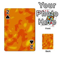 Orange Decor Playing Cards 54 Designs