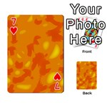 Orange decor Playing Cards 54 Designs  Front - Heart7