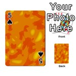 Orange decor Playing Cards 54 Designs  Front - Spade5