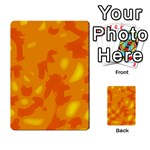 Orange decor Playing Cards 54 Designs  Back