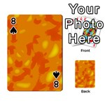 Orange decor Playing Cards 54 Designs  Front - Spade8
