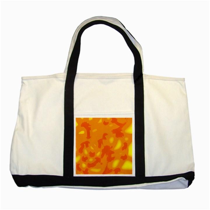 Orange decor Two Tone Tote Bag