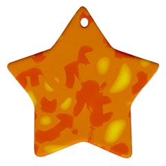 Orange Decor Star Ornament (two Sides)